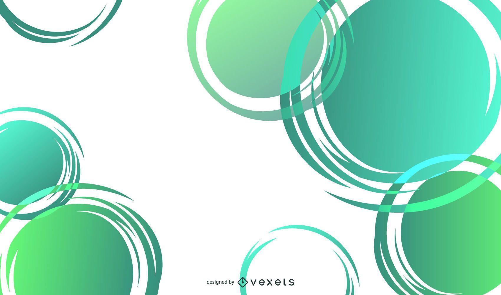 sonho verde abstrato 05 vetor