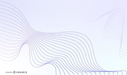 Abstract Blue Wave Design Vector Graphic