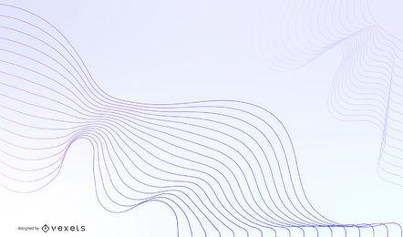 Abstrato azul onda Design Vector Graphic