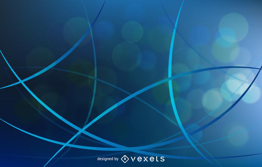 Resumen de fondo con curvas azules ilustración vectorial