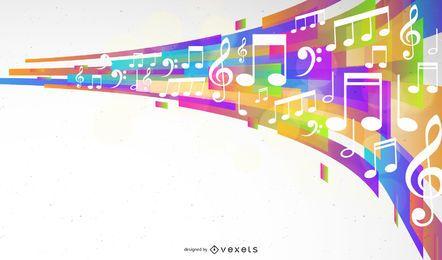 Ilustração em vetor abstrato design musical