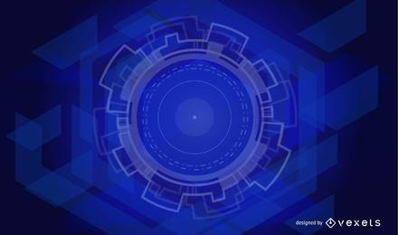 Abstrakte technische Hintergrund-Vektor-Grafik