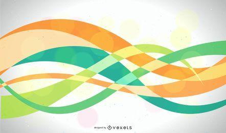 Fondo ondulado abstracto colorido