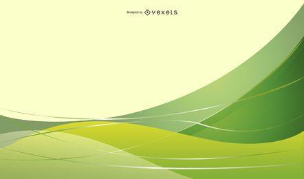 Ilustração vetorial abstrato fundo verde