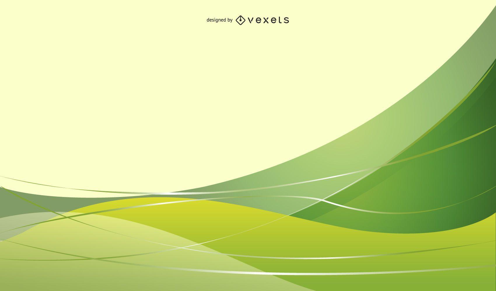 Ilustración Vectorial Fondo Verde Abstracto