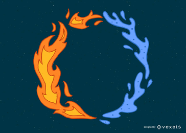 Anel de fogo e água