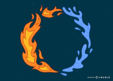 Anillo de fuego y agua