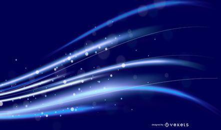 Abstrato brilhante luz azul escuro de fundo Vector