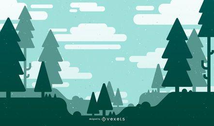 Abstrakte Natur-Hintergrund-Vektor-Illustration