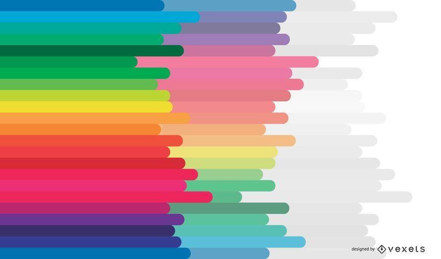 Fondo de vector de arco iris colorido abstracto gratis