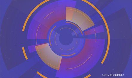 Resumen tecnología círculos vector de fondo