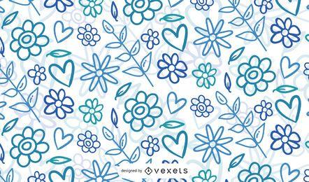 Gráfico de vetor de fundo floral abstrato de verão