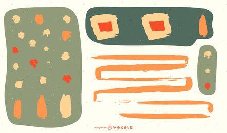 Ilustraciones coloridas abstractas del vector ilustraciones