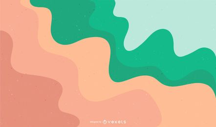 Abstract Colored Waves Vector Background