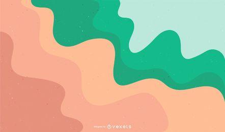 Resumen de fondo de vector de ondas de colores