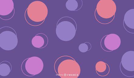 Ilustração abstrata do vetor de círculos coloridos