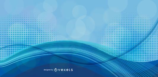 Fondo azul abstracto gráfico vectorial 1