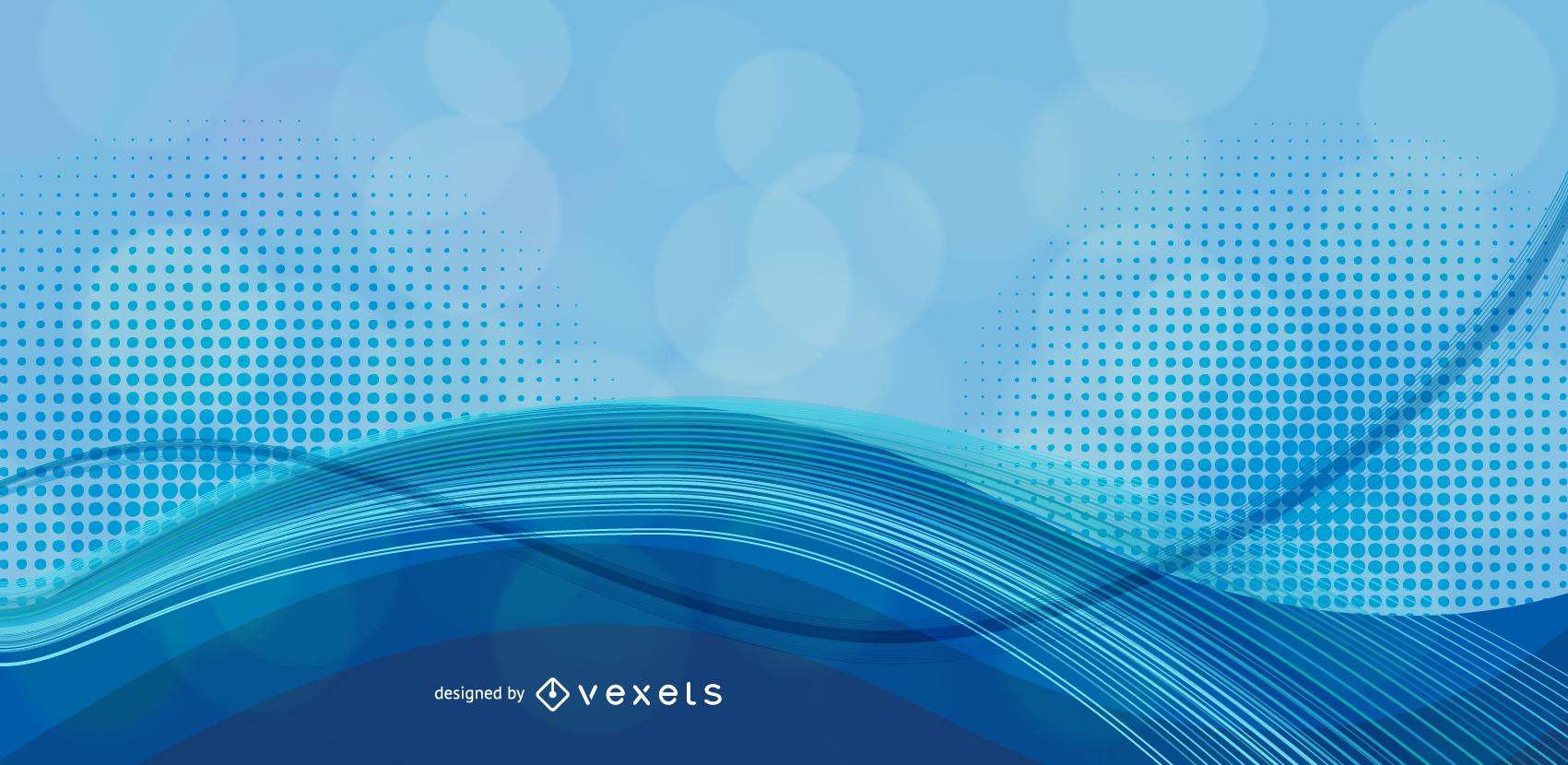 Abstrakte blaue Hintergrund-Vektorgrafik 1