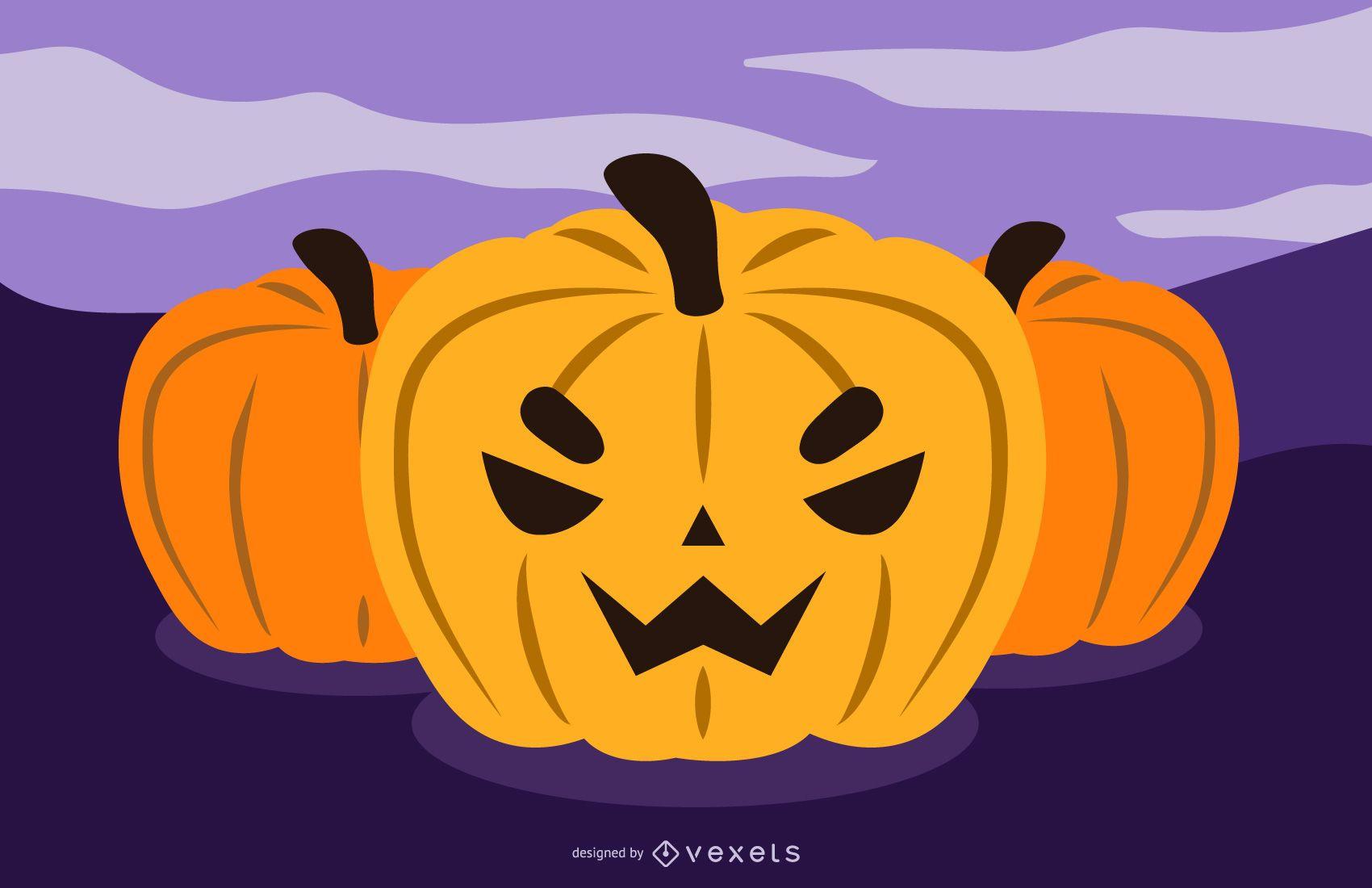 Diseño de calabaza de Halloween