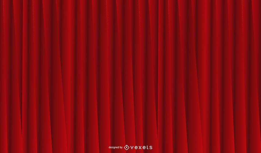 Fundo vermelho cortina