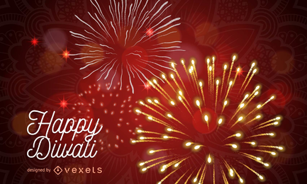 Fondo de Diwali con chispas.