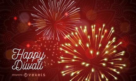 Fundo de Diwali com faíscas