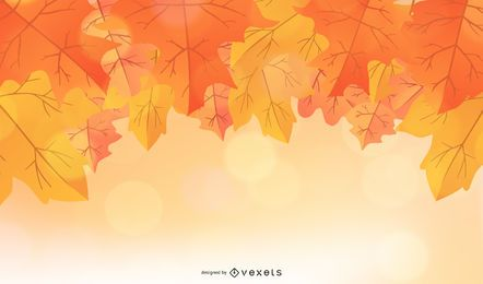 Orange autumn leaves background