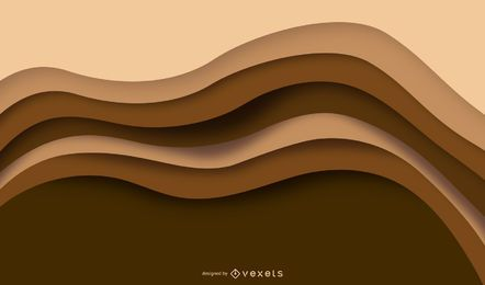 Brown wavy layers background