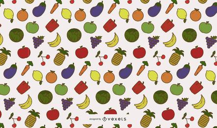 Obst- und Gemüsemuster