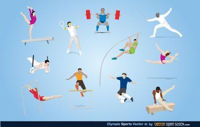 Olympischer Sportvektor