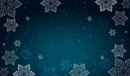 Fondo vector de nieve