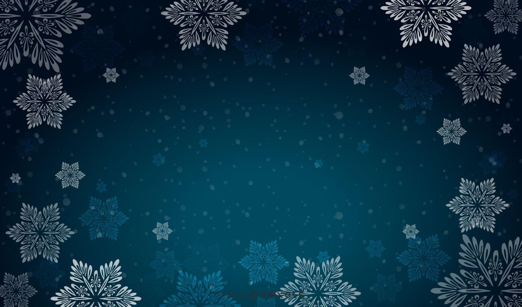 Background Vector Snow