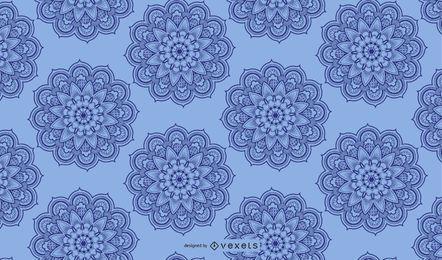 Fundo azul claro arabesco