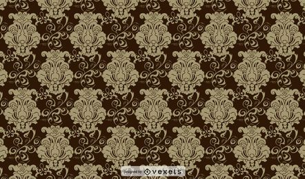 Brown Vintage Ornate Pattern Background