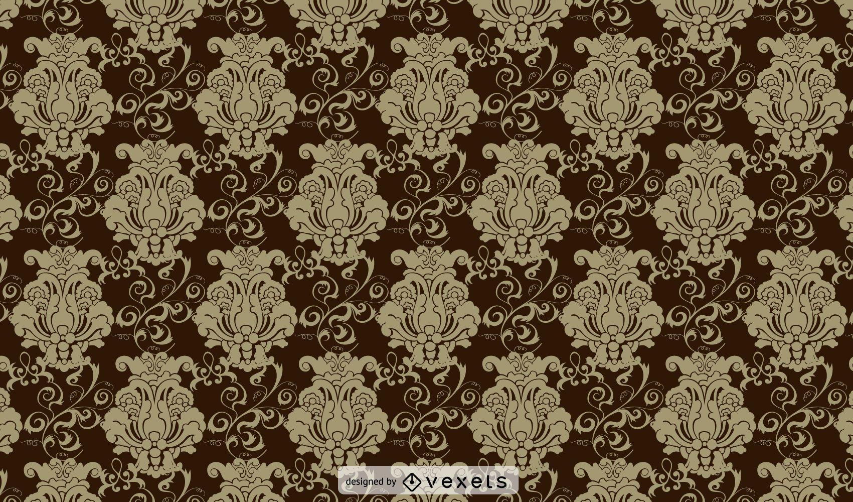 Brown Vintage Ornate Pattern Background