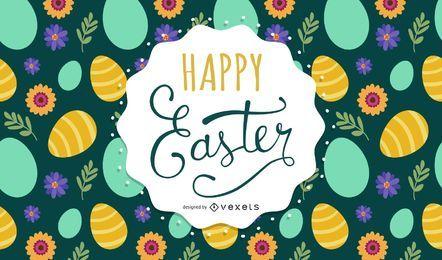 Fondo de letras de Pascua feliz