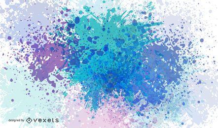 Fondo de colores fríos de tinta salpicada