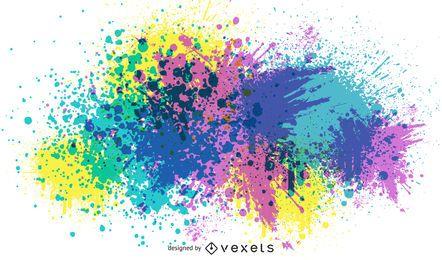 Colores salpicados grunge