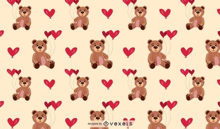 Fondo de patrón de oso de peluche