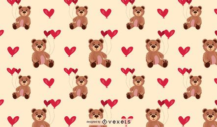 Teddy bear pattern background