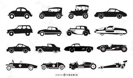 Old Car Silhouette Pack