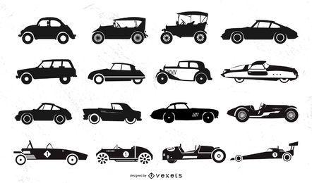 Silhuetas de carros antigos