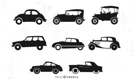 Siluetas de coches antiguos
