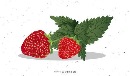 Realistisches Erdbeer-Design