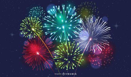 Fogos de artifício brilhantes de 2012