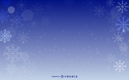 Design de pano de fundo azul flocos de neve
