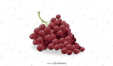 Diseño de uvas ilustrado.