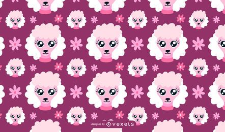 Poodle dog pattern illustration