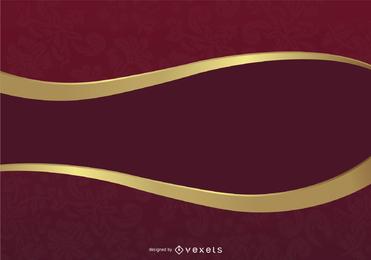 Fundo de luxo clássico em vermelho e dourado