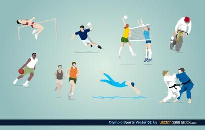 Vetor de esportes olímpico 02
